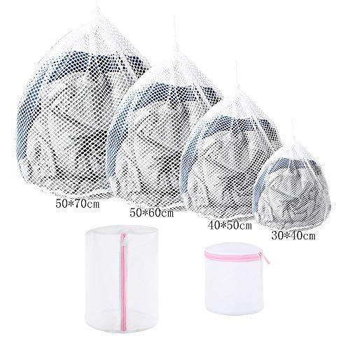 Nsiwem Wäschesack für Waschmaschine 6 Stück Wäschesack Waschmaschine Wäschenetz Wäschebeutel Wäschesack Netzbeutel für Wäsche Waeschesack für Babywäsche Unterwäsche Socken Kleidung Gardinen Hemden