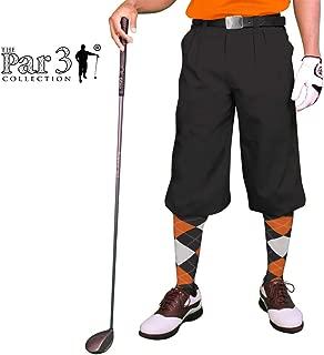 Golf Knickers Black Mens 'Par 3' - Microfiber