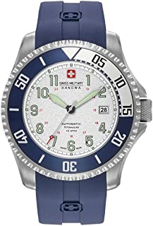 Swiss Military Hanowa Automatic Triton Watch, Titanium, Silver, Silicon Strap