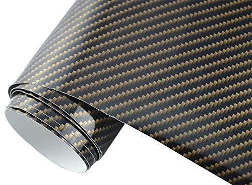 5€/m2 Auto Folie - 2D Carbon braun 200 x 150 cm - selbstklebend BLASENFREI flexibel Car Wrapping Klebefolie folieren