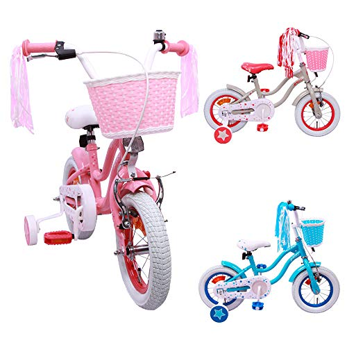AMIGO Superstar - Kinderfiets - 12 inch - Meisjes - Met zijwieltjes en terugtraprem - Vanaf 3 jaar - Roze