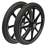 20-inch Pneumatic Replacement Wheels for Rubbermaid Cart (2-Pack)