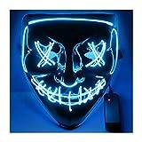 USCVIS Halloween Maske, LED Maske mit 3 Blitzmodi for Halloween Fasching Karneval...