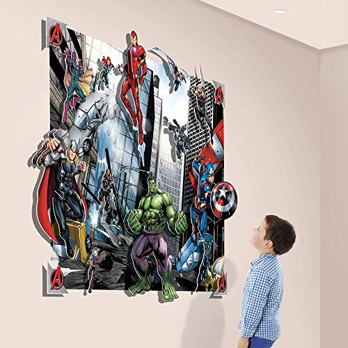 BAOWANG Wall Stickers Avengers 3D Pop Out Wall Decoration Paper/Card Multi-Colour 52 5 x 4 x 56 cm