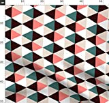 Dreieck, Grafisch Stoffe - Individuell Bedruckt von