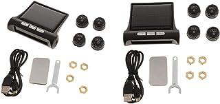 Kesoto 2 conjuntos de sistema inteligente de monitoramento de pressão de pneu visor LCD com chave de porcas