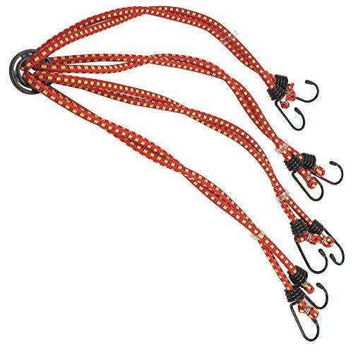 com-four Tensor de Goma de 8 Brazos - Tensor de Equipaje - Cuerda tensora con Gancho - Gomas tensadoras para Bicicletas, automóviles - Araña de Equipaje 84 cm (8 Brazos - el Color varía)