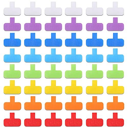 50 Etiquetas de Cables Multicolores Etiquetas de Alambre, Etiquetas de Cables Ovales Etiquetas de Alambre de Gancho y Bucle para Gestión de Cables, Computadoras y Más