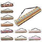 Yogatasche »Sunita« von #DoYourYoga aus hochwertigem Canvas (Segeltuch), aufwendig verarbeitet, für extra große Yogamatten und Gymnastikmatten bis zu einer Größe von 186 x 63 x 0,6 cm,...