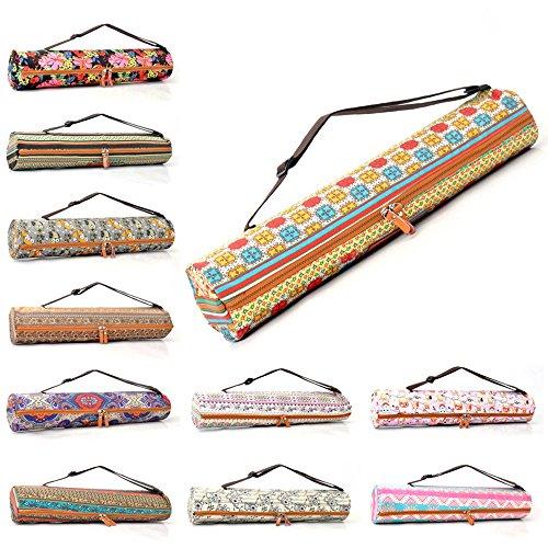 #DoYourYoga Yogatasche »Sunita hochwertigem Canvas (Segeltuch) / aufwendig verarbeitet Yogatragetasche/Tasche für Yogamatten bis zu Einer Größe von 186 x 61 x 0,7 cm/Elefanten