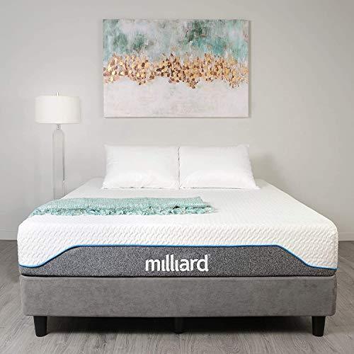 Milliard Double Memory Foam Mattress, 20cm High Density Foam, Medium Firm (90 x 190 x 20cm)