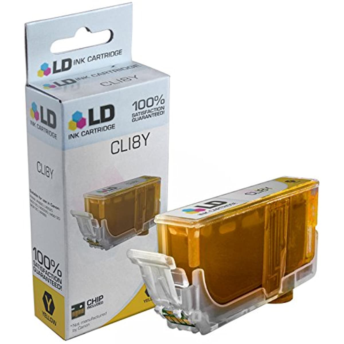 LD Compatible Ink Cartridge Replacement for Canon CLI8Y 0623B002 (Yellow) r49896292