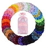 36 Stücke Scrunchies Samt, 36 Bunte Haargummis Elastische Haarbänder Gummibänder für Mädchen Frauen Damen
