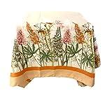Alambbra - Mantel de raso de algodón con impresión floral o de 6 plazas o 12 plazas (fantasía de 2, 12 plazas)