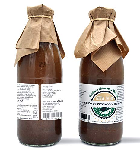 Caldo de Pescado y Marisco Sita d'Or – Pack 2 botellas (2 x 1L ) – Natural y Artesano