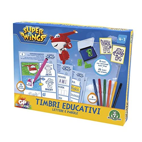 Giochi Preziosi - Super Wings Set di Timbri Educativi