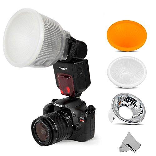 Fomito, nube universale, diffusore flash + 3 pezzi coperture color bianco, argento e arancione, set per flash Speedlite