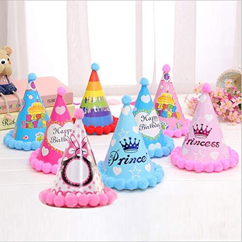 Great Price! Amosfun 12pcs Birthday Paper Hat Birthday Party Cone Hats Happy Birthday Cap for Birthd...