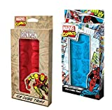 Marvel Comics Spider-Man and Iron Man Ice Cube Tray Bundle 2 Pack