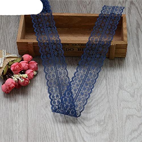 ?Nuevo!?wholesale 5-10 yardas de hermosa cinta de encaje, 45 mm de ancho, joyer¨ªa de bricolaje, ropa, boda, accesorios florales: azul marino, 5 yardas