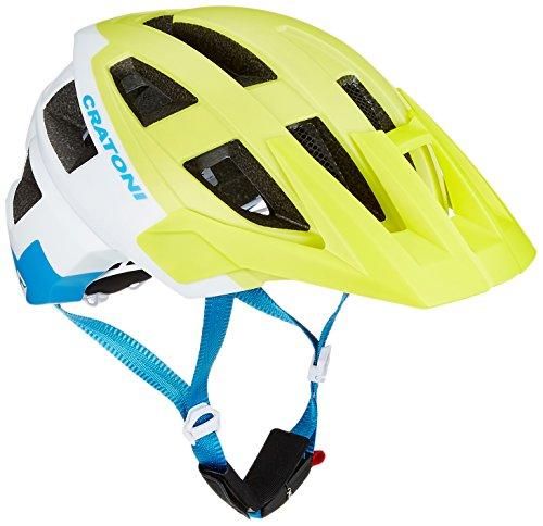 Cratoni AllSet Casco de Bicicleta, Unisex Adulto, Blanco/Amarillo, Gr. 58-61 cm (Herstellergröße: M-L)