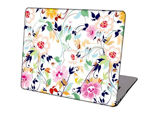 Laptop Case for MacBook Air 13 inch Model A1932/A2179,Neo-wows Plastic Ultra Slim Light Hard Shell Cover Compatible MacBook Air 13 inch 2018-2020 Release,Flower 15
