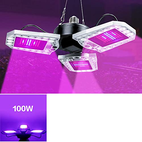 LED crece la bombilla, planta plegable Sunlike espectro completo de Cultivo con la extensión de la cuerda que cuelga del cable colgante de luz, de invernadero hidropónico Vegs en maceta de flores,100
