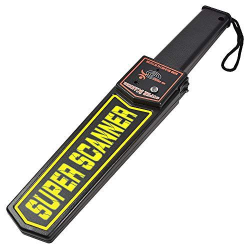 MENGS Hand-Held Meral Detector con alarma de zumbador / vibración LED en busca de armas ofensivas, aeropuertos y fronteras, control de paquetes y cartas