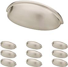 Franklin Brass Puxador de copo de níquel escovado, alças de armário e puxadores de gaveta para armários de cozinha e gavet...