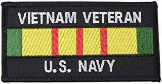 Embroidered US Navy Vietnam Veteran Ribbon Iron or Sew On Patch Military Vet Gift