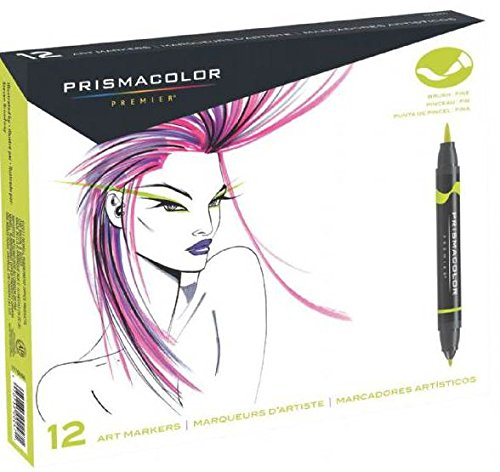 12-Color Double Ended Brush Markers Primary Set -  SANFORD, 1773297