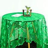 sirecal Trèfle Nappe St. Patricks Day Nappe, Shamrock Vert Nappe Carrée Irlandais Vacances Décoratif Table Couverture de Table Décorations de Fête Saint Patrick