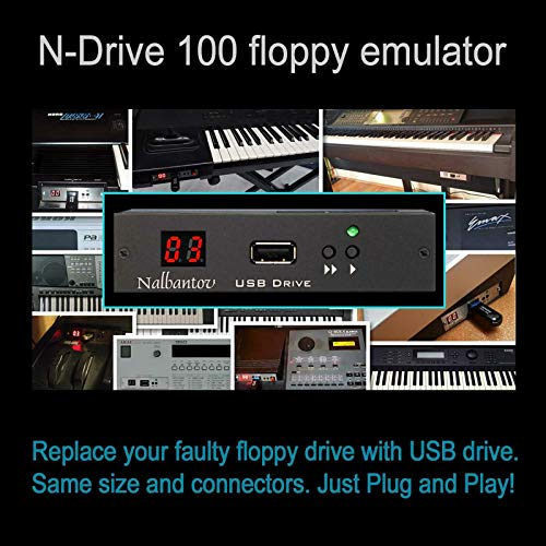 Purchase Nalbantov USB Floppy Disk Drive Emulator N-Drive 100 for Akai MPC-60 MK I (Version 1)