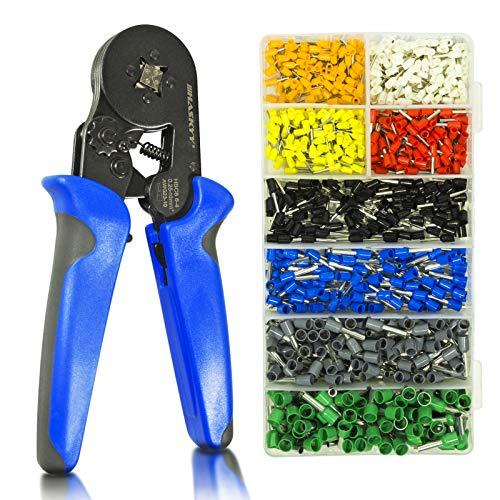 Haskyy 800 stycken presstång trådhylsor set I trådhylsnyckel inkl. 800 x kabelskor 0,25–10 mm² I verktygssats I kabelskotång