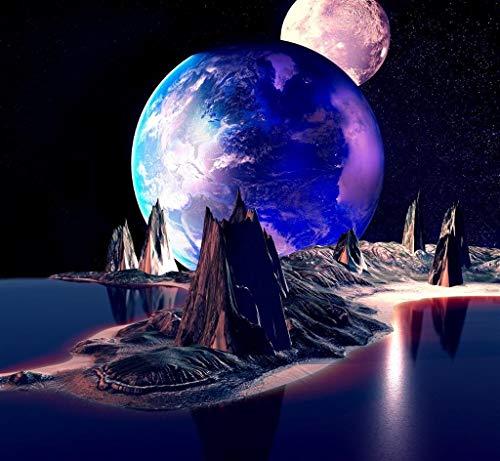 Rompecabezas de 500 Piezas, Rompecabezas de madera, Juego de Rompecabezas de relajación, Rompecabezas para el Cerebro, Regalo para niños y Adultos -Cosmic planet mountain