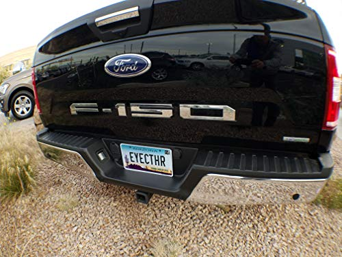 EyeCatcher Tailgate Insert Letters fits 2018-2020 Ford F150 (Chrome)