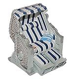 3-D Figur Strandkorb blau weiß - z.B. als Tischdeko Mini Deko Dekofigur - Ostsee Meer Nordsee Maritim Klein Strandkörbe
