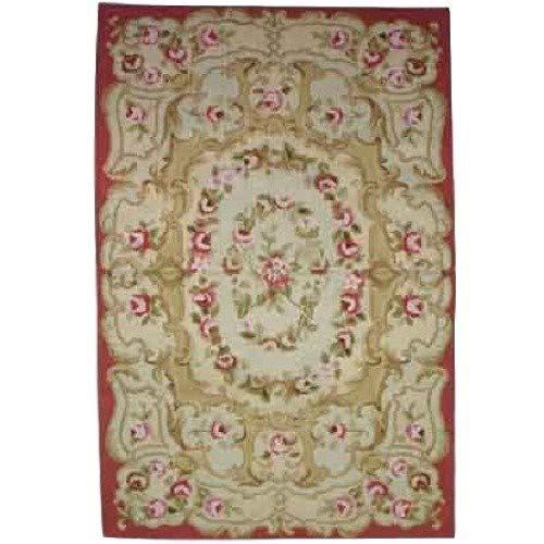 Better & Best Alfombra Petit Point con capullos de 122 x 183, Color roja, Lana, Fresa, 120 x 180 cm