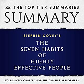 Summary of Stephen Covey's 7 Habits of Highly Effective People cover art