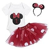 TiaoBug Baby Mädchen Kleidung Set Kleider Baumwolle Strampler Prinzessin Kostüm Neugeborene Polka...