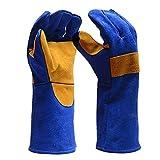 guantes de soldadura de cuero resistente al calor guantes de protección...