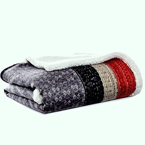 Eddie Bauer Fair Isle Throw, 50x70, Dark Steel