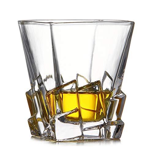 ChengBeautiful Vaso De Whisky De Cristal Crystal torcedura Whisky Formado Vaso de Whisky de Cristal del Vidrio de Cerveza del Vidrio de Vino (Color : White, Size : One Size)