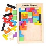 She-Lin Rompecabezas de Madera con Forma de Tetris, Rompecabezas de tangrama, Rompecabezas de Juguete, Rompecabezas de Madera Colorido, Regalo Educativo para niños (40 Piezas)