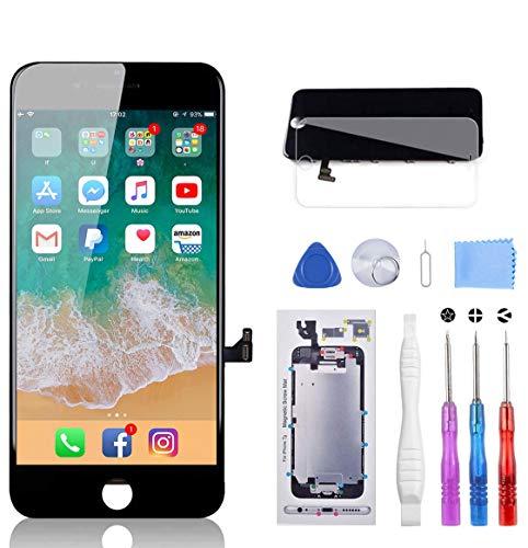 YPLANG Compatible with iPhone 7 Display Schwarz LCD Touchscreen Display mit Ersatz Bildschirm Glas und Komplettes Kostenlose Werkzeug Reparaturanleitung