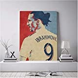 Refosian Zlatan Ibrahimovic Poster Leinwand Wandkunst