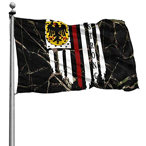 FuJianQiang America Flagge, Armee Flagge Banner, Brise Flagge, künstliche Flagge, Militärflagge, Br Deutschland Flagge Strong 4X6Ft, Outdoor-Gartenflaggen, Demonstrationsflagge, Home Seasonal Flag