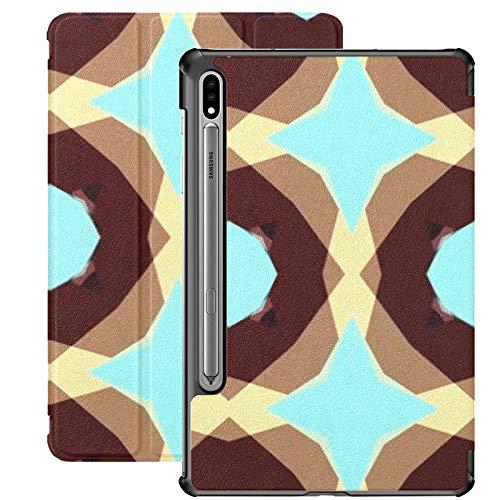 Funda para Galaxy Tab S7 Funda Delgada y Liviana con Soporte para Tableta Samsung Galaxy Tab S7 de 11 Pulgadas Sm-t870 Sm-t875 Sm-t878 2020 Versión, Caleidoscopio de ilustración Creativa simétrica AB