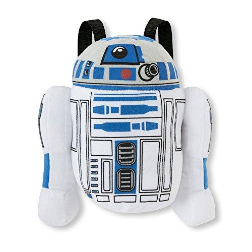 Disney Star Wars R2D2 Sac à dos en peluche – 33 cm – Bretelles réglables – Fermeture Éclair – Fantaisie personnage Sacs – Article # 145010