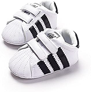 LIVEBOX Newborn Baby Boys' Premium Soft Sole Infant Prewalker Toddler Sneaker Shoes